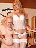 Fat slave is serving his Mistress