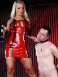 Mistress Britney Amber truly believes in taking charge of her slaves